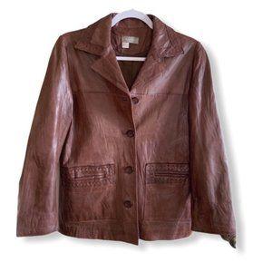 Territory Ahead Vintage Leather Jacket, Brown, S